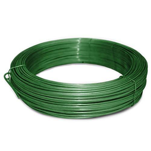 casa pura® Bindedraht grün | 3,1mm Stärke | Länge wählbar (55 Meter Rolle)