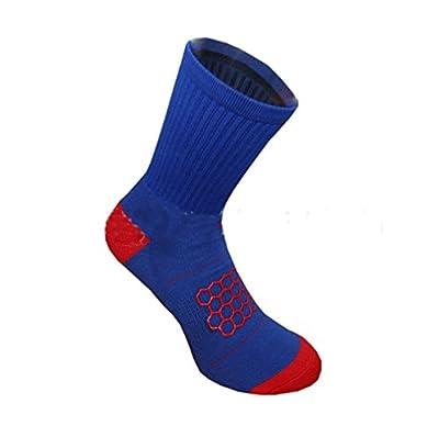 PreSox Unisex Sport verdickt Kissen Crew Socken mit Gummi Punkte für Baseball / Fußball / Futbol Schienbeinschützer