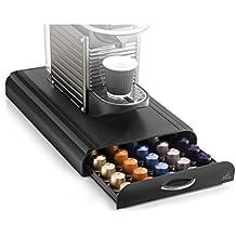 CEP Take a Break - Soporte de máquina de café con 1 cajón de almacenamiento para capsulas, color negro