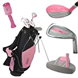 GolfGirl Pink Junior Golf Right Hand Clubs Set inc Bag