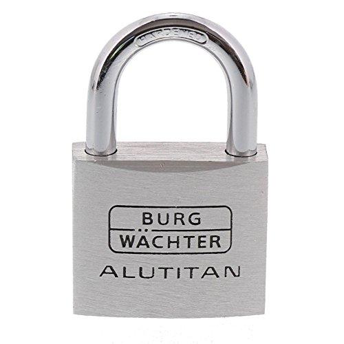 Burg-Wächter Vorhängeschloss, 2er-Set, 6,5 mm Bügelstärke, 4 Schlüssel, Duo 770 40 SB