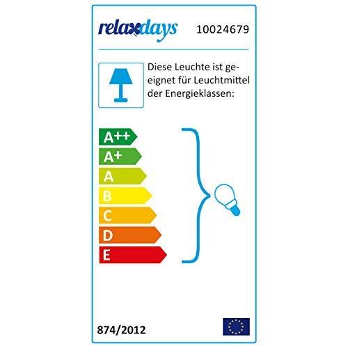 Relaxdays Hängeleuchte, Hängelampe in modernem Design, Deckenleuchte für Esszimmer, Arbeitszimmer & Co, E27, Weiß