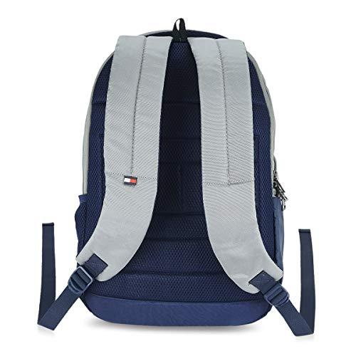 Tommy Hilfiger Rene 25 Ltrs Light Grey Laptop Backpack (TH/RENELAP07) Image 3