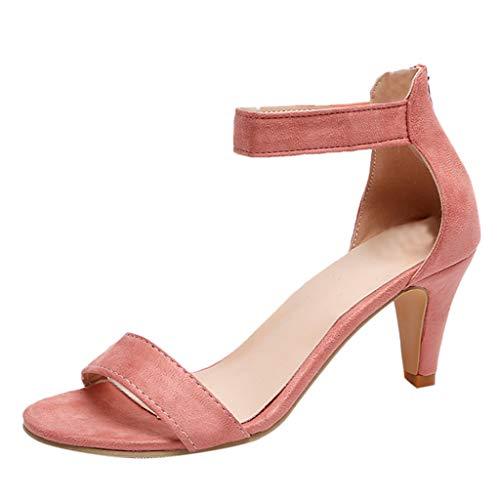 Strungten Frauen niedrigen Knöchelriemen Kätzchen Ferse - wesentliche Mitte Ferse Open Toe Kleid Sandale Open Toe Zip High Heel Sandalen - Zip Knit Jumper