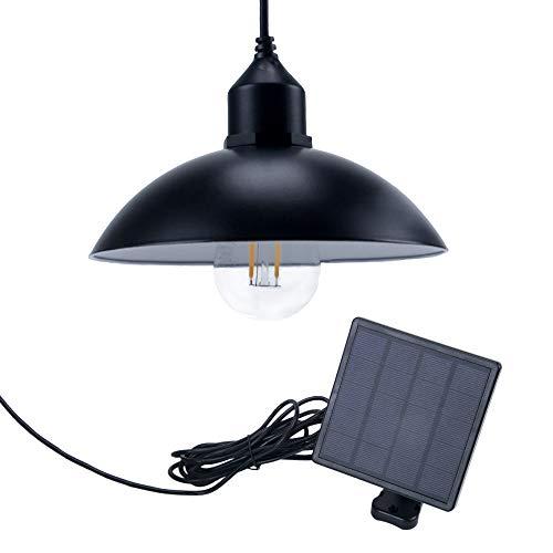 Jolicobo Solarlampen Solar Hängeleuchte 2 Modi IP65 Wasserdicht Solar Pendelleuchte Hängelampemit Solarpanel und Zugschalter für Außen -