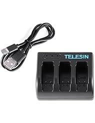 TELESIN USB 3 Schlitze Batterie Ladegerät Spielraum Kamera Batterie Ladegerät für GoPro Hero 5 Action Kamera OS836