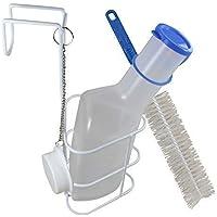 Urinflasche + Betthalter + Bürste PP Qualität Urinflaschen von Medi-Inn