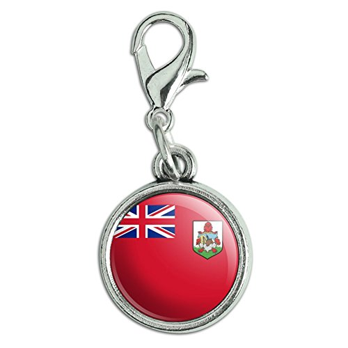 Antik Armband Anhänger Charm Zipper Pull Anhänger mit Karabinerverschluss Land National Flagge A-C Bermuda National Country Flag (Möbel-bermuda)