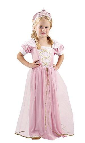 Karnevalsbud - Mädchen Prinzessinnen Kostüm, Karneval, Fasching, Rosa, 98-104, 3-4 Jahre
