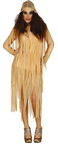 Ladies Ancient Mummy Egyptian Halloween Fancy Dress Costume Outfit 14-16-18 (UK 14-18)