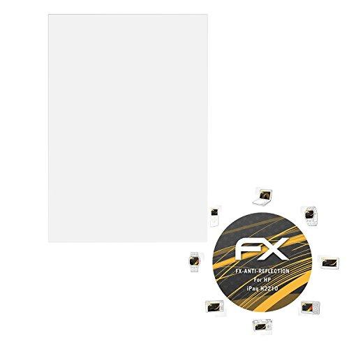 atFolix Panzerfolie kompatibel mit HP iPaq H2210 Schutzfolie, entspiegelnde und stoßdämpfende FX Folie (3X) -
