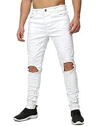 Terance Kole Homme Jeans COVILHA détruit Regardez Mince Fit Section camaïeu Lange Pantalon
