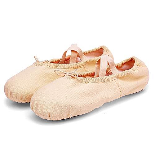 Chengxin Tanzschuhe Weibliche weiche untere Tanzschuhe Erwachsener voller Körper-Segeltuch-Katze-Greifer beschuht Berufsballett-Schuh-Praxis-Schuh-Tanzschuhe Schuhe (Size : 32EU) (Körper Halloween-kostüme Voller)