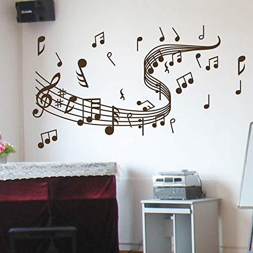YuanMinglu Musik Wandaufkleber Aufkleber Graffiti Wandaufkleber Künstler Wohnaccessoires braun 60x36cm - Grant Holz-künstler