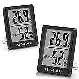 Sonomo Thermo-Hygrometer, 2 Stück Thermometer Innen Hygrometer Digital Raumthermometer Luftfeuchtigkeitsmessgerät mit Hohen Genauigkeit, für...