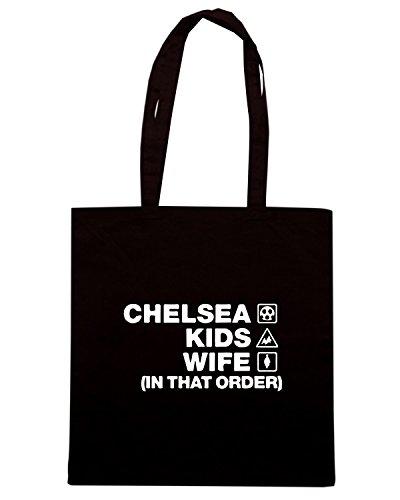 T-Shirtshock - Borsa Shopping WC1136 chelsea-kids-wife-order-tshirt design Nero