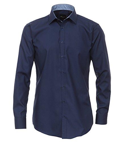 Venti - Body Fit - Bügelfreies Herren Langarm Hemd in verschiedenen Farben (162434600 A) Blau (101)