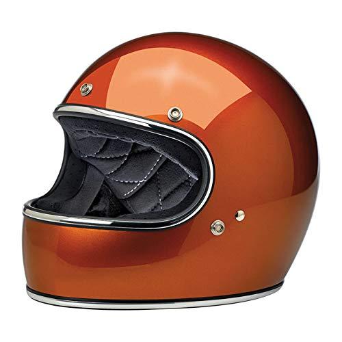 Casco Integral de Gringo biltwell Gloss Copper homologado Doble homologación ECE (Europa) & Dot (América) Biker Custom Vintage Retro año 70 M Arancio