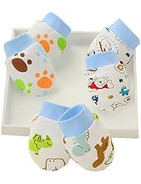 Affe 3pares bebé Baby Boy/Girl Cute Cartoon guantes manoplas antiarañazos para recién nacido regalo