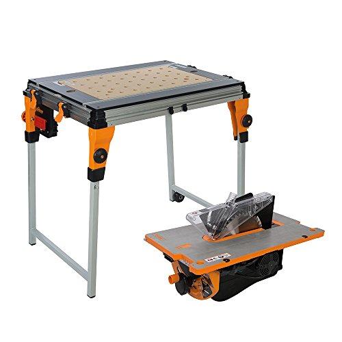 Preisvergleich Produktbild Triton Workcenter und Baukreissägemodul mit Zubehör, für Twx7, 1 Stück, orange/black, 460810