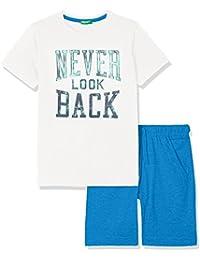 United Colors of Benetton Set T-Shirt+Shorts, Conjunto para Niños