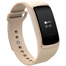 Reloj inteligente Sannysis A09 Bluetooth inalámbrico HD Heart Rate Smartwatch para Android IOS (Oro)