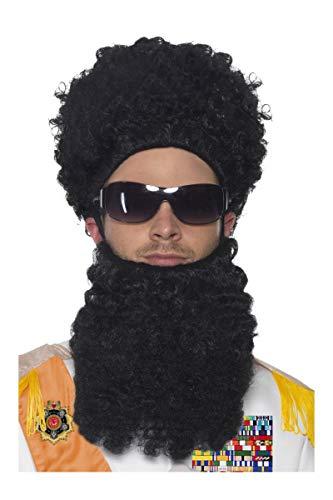 Das Diktator Kostüm - Smiffys Dictator Kostüm Set 3-teilig Diktator Borat Original Perücke Bart Brille