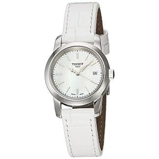 Tissot CLASSIC DREAM T0332101611100 – Reloj de mujer de cuarzo, correa blanca, esfera blanco nácar