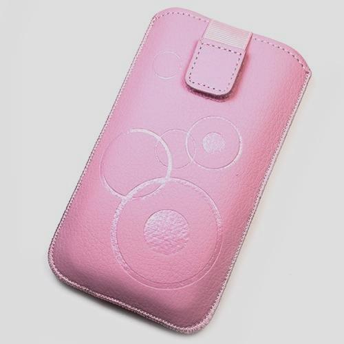Schutzhülle Tasche Lederoptik rosa für mobile Huawei Ascend Y220
