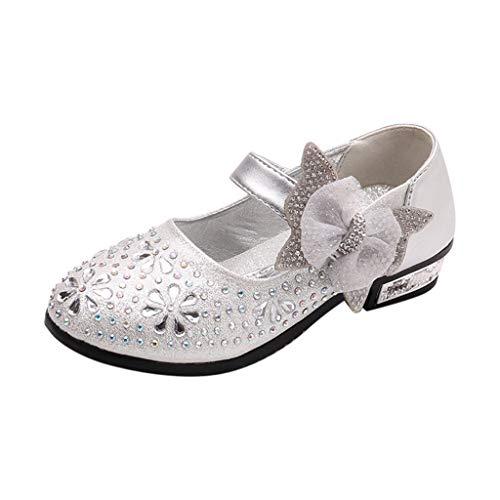 Ears Kinder Prinzessin Schuhe Baby Mädchen Partei Schuhe Sandalen Oxford Sohlen Sandalette Kristall Bling Pailletten Single Tanzen Prinzessin Schuhe Sandalen Cinderella Absatz-Schuhe