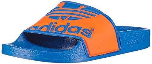 Adidas performance adilette trefoil, ciabatte da spiaggia/piscina unisex – adulto, mehrfarbig (bluebird/orange/bluebird), 40 2/3