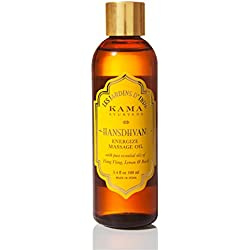 Kama Ayurveda Hansdhvani Energize Massage Oil with Pure Essential Oils, 100ml