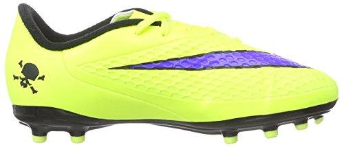 Nike Hypervenom Phelon FG, Chaussures de Football Compétition Mixte Enfant, UK Vert - Grün (Volt/Persian Violet-Black)