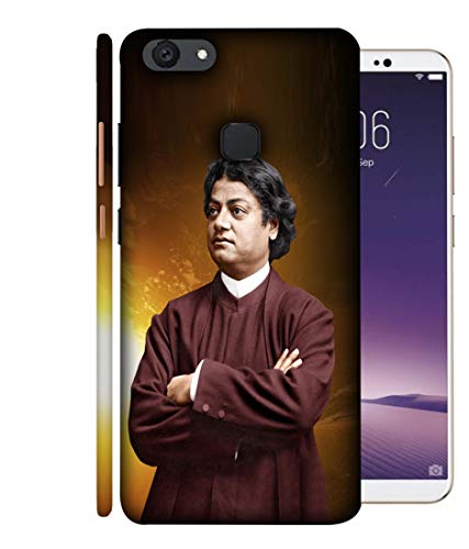 SAMRNG Amazing Designer Back Case Cover for Vivo V7 with The Unique Design of vivekanand backcoversWith The Beautiful White Colour