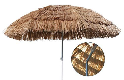 Hawaii Schirm Sonnenschirm Strandschirm Gartenschirm Balkonschirm 180 cm Beige