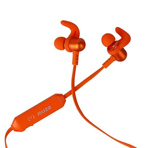 Muze Capsule Bluetooth in-Ear Earphone with Mic (Orange)
