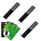 Kmise Clarinet Reed Strength 2.5 - Juego de 3 lengüetas de resina sintética para principiantes y estudiantes, color negro