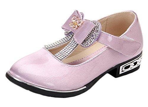 Scothen Prinzessin Ballerinas Party Schuhe Festliche Schuhe Mädchen Studenten Lederschuhe Tanzschuhe Schmetterling Party Absatz-Schuhe Mädchen Kostüm Schuhe-Schleife Pailletten Karneval (Baby Kostüm Gelee)