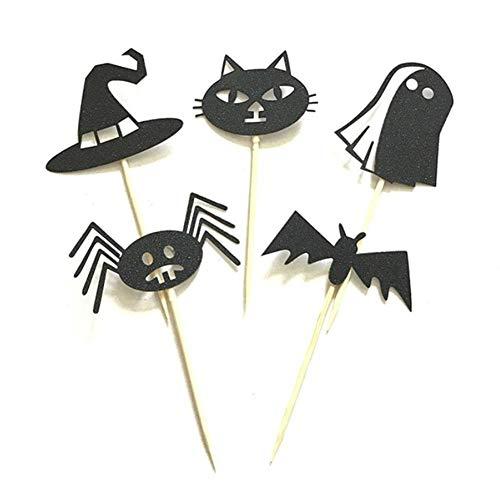 (ADKCL MALL Halloween Festival Dress up Kuchen Flagge mit Kopfschmuck Katze Ghost Magic Wizard Hut Vampire Bat Spider)