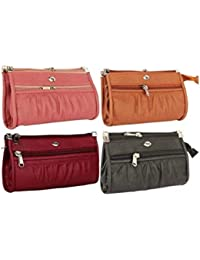 Awesome Fashions Multicolor Pu Leather Women's Wallet (Combo Of 4)
