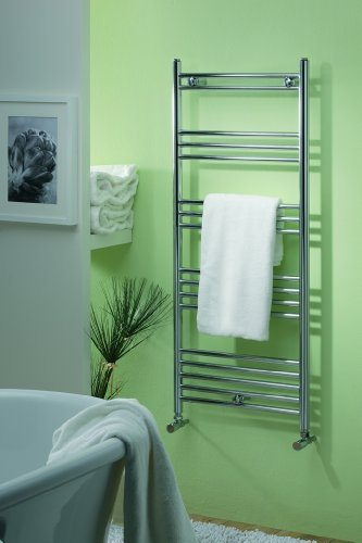 Chrome heated towel rail 500 x 1200
