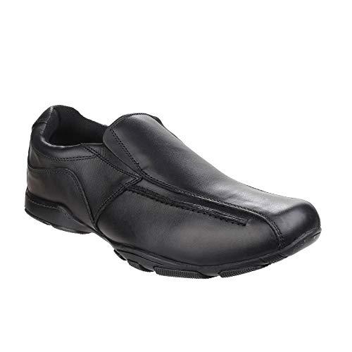 Hush Puppies Bespoke Senior, Zapatos para Uniformes de Escuela para Niños, Negro, 23.5 EU