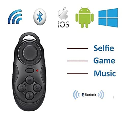 ddLUCK Wireless Gamepad & Selfie Shutter Remote VR BOX's Partner Gamepad Joystick Controller Selfie Remote Shutter For Android IOS Ebook iPod iPad PC TV Devices With Bluetooth 3.0 Or Above Version