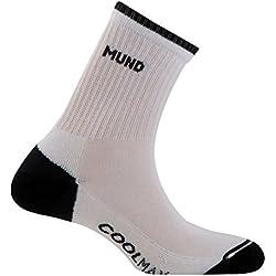 Mund Padel 507 - Calcetines para mujer, color blanco / azul marino, talla M (38-41)