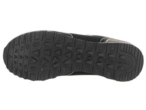 Skechers Damen Sneakers OG 85 Shimmer Time Schwarz Schwarz (Blk)