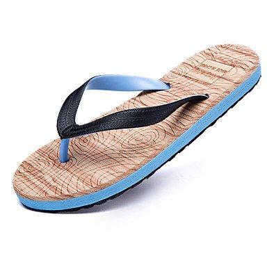 Slippers & amp da uomo;Estate Comfort PU esterna casuale Tallone piano Walking Nero Blu Rosso Bianco sandali US10 / EU43 / UK9 / CN44