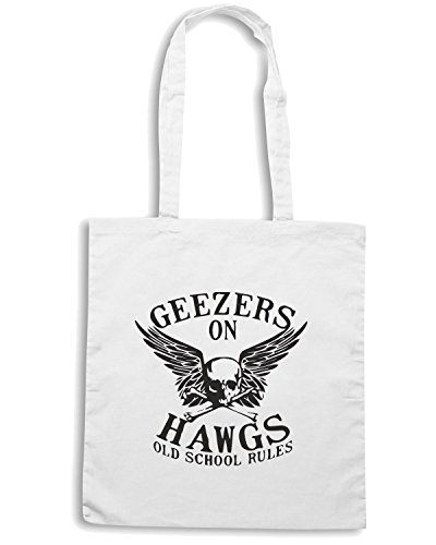 T-Shirtshock - Borsa Shopping TB0119 greezers on hawgs Bianco