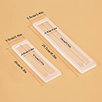 3 Pcs DIY Bookmark Mould Making Epoxy Resin Jewelry DIY Craft Silicone Transparent Mold