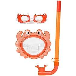 Atosa 13509-Masque et Tuba de plongée, Orange