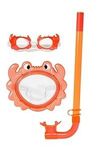Atosa 13509-Gafas de Buceo y esnórquel, Color Naranja